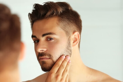 髭が太い硬い
